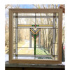 G17009 - Antique Prairie Style Stained Glass Window
