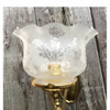 L17021 - Antique Gas Triple Swing Arm Sconce