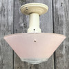 L17073 - Art Moderne Ceiling Light Fixture With Antique Bowl Shade