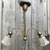 L17074 - Antique Colonial Revival Two Arm Hanging Fixture