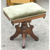 F17080 - Antique Renaissance Revival Walnut Adjustable Organ Stool