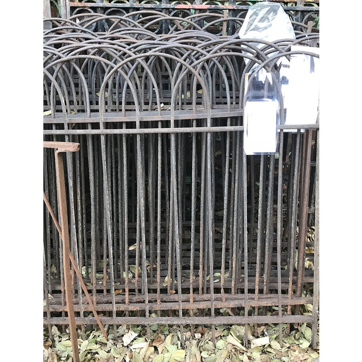 S17073 - Antique Wrought Iron Fence Section