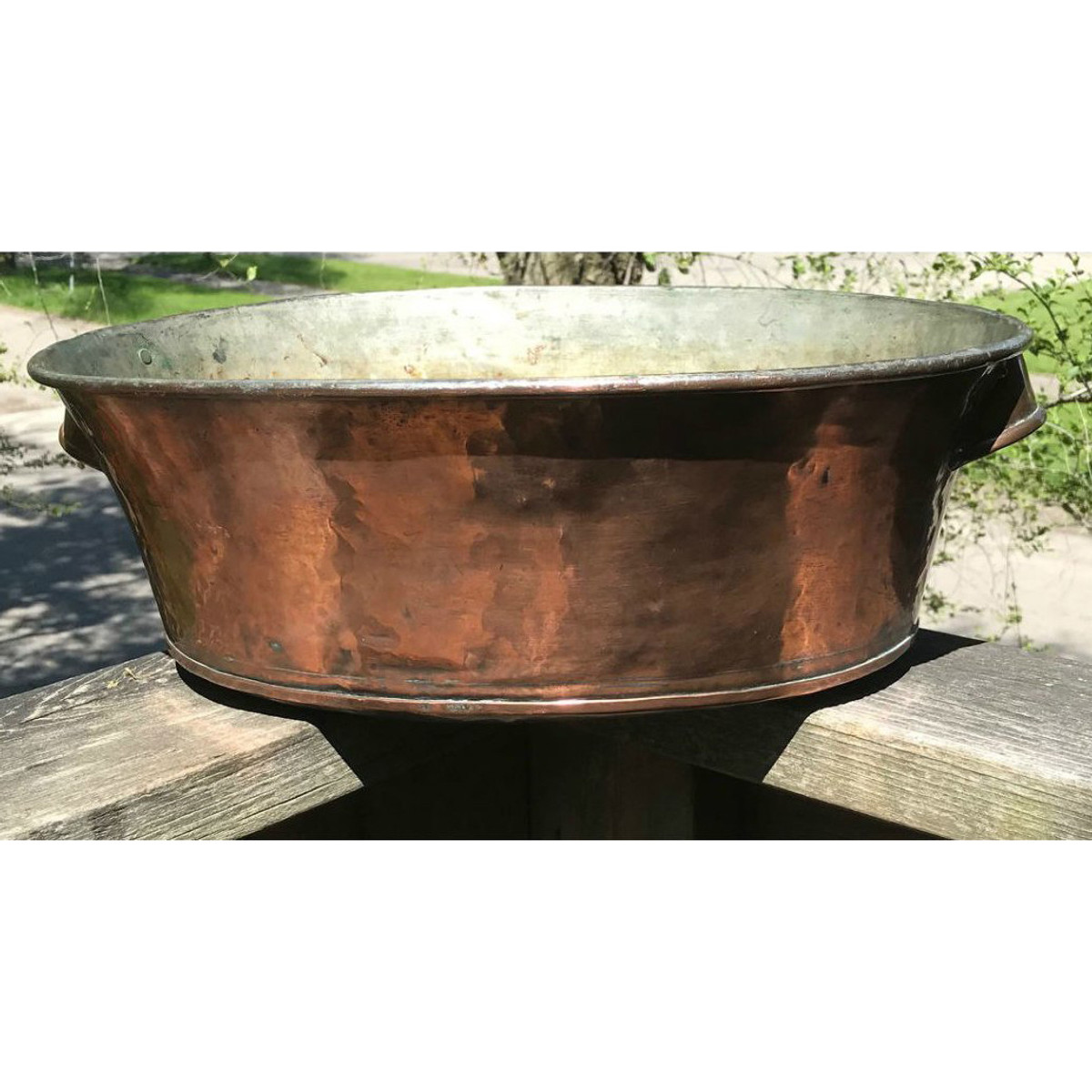 A18057 - Antique 19th Century Copper Pot with Handles