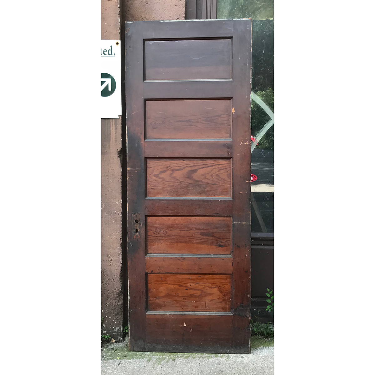 D18148 Antique Interior Five Panel Door 30 X 80