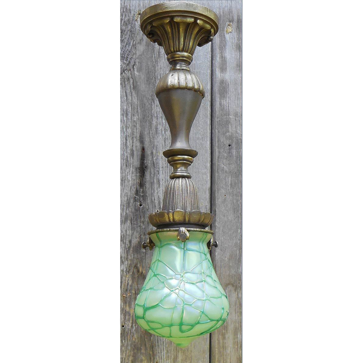 L14289 - Antique Revival Period Pendant Fixture with Art Glass