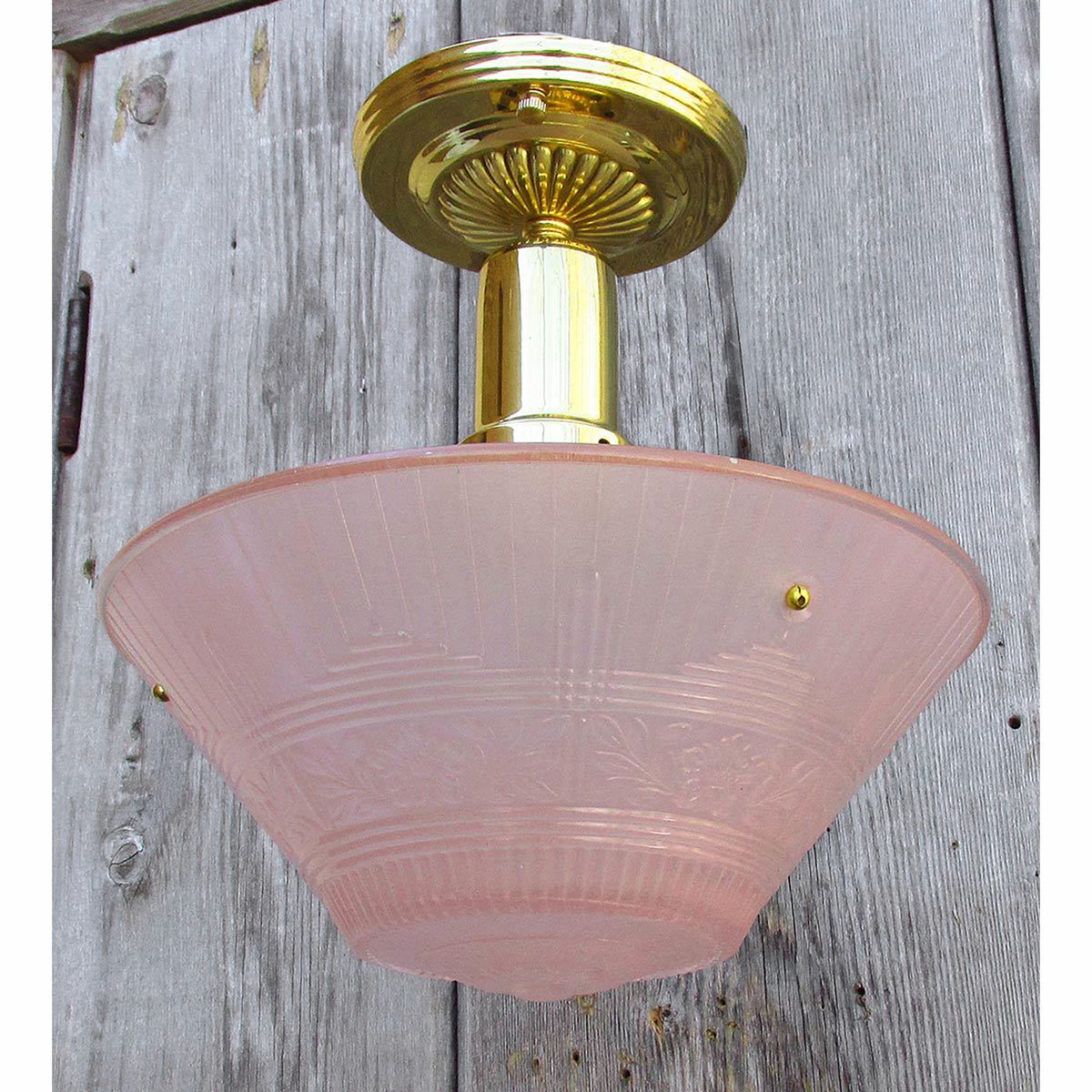 L15066 - Art Moderne Ceiling Light Fixture With Antique Bowl Shade