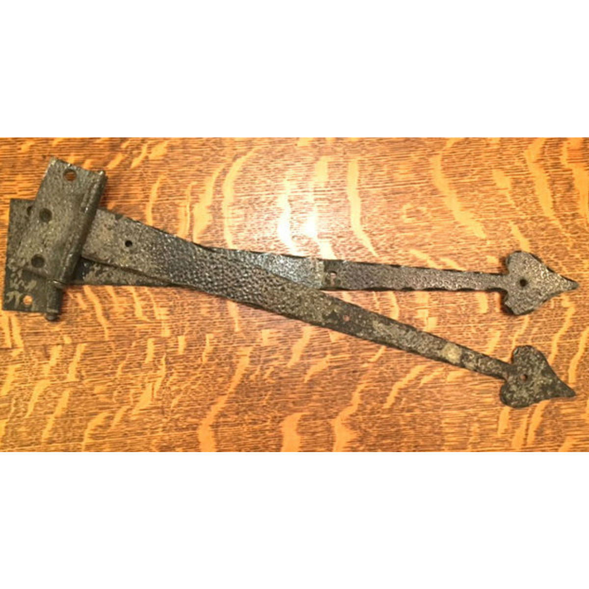 H16012 - Set of Two Antique Tudor Style Strap Hinges