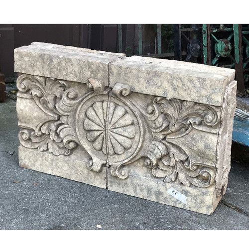 S17051 - Antique Revival Period Marbelized Terra Cotta Building Fragment