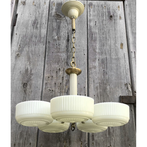 L17230 - Antique Art Moderne Style Five Light Fixture