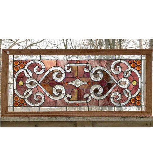 G17087 - Antique Late Victorian Stained and Beveled Glass Window