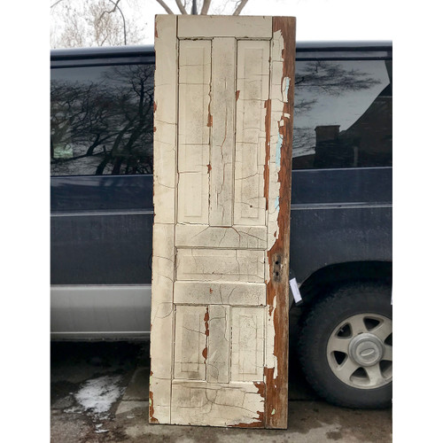 "D18001 - Antique Oak Interior Five Traditional Panel Door 28"" x 83"""
