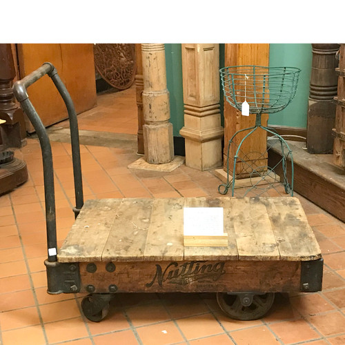F18021 - Antique Industrial Factory Cart