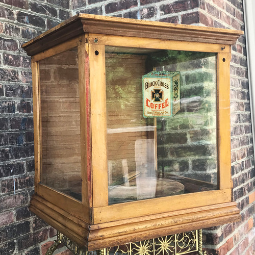A18073 - Antique General Store Cheese Board Display Cabinet