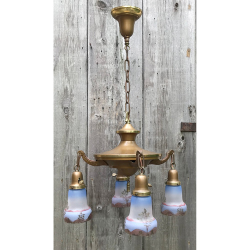 L18089 - Antique Four Arm Pan Light Fixture