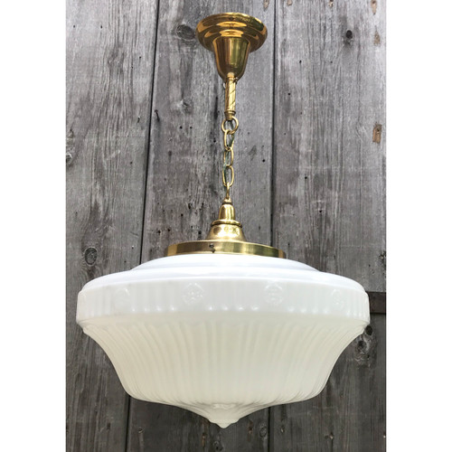 L18091 - Antique Neoclassical Style Large Schoolhouse Light Fixture