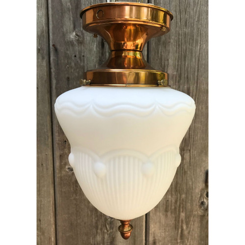 L18102 - Antique Colonial Revival Copper Flush Mount Fixture