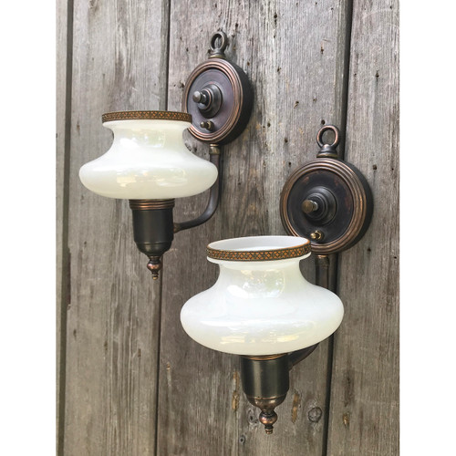 L18108 - Pair of Antique Art Moderne Sconces