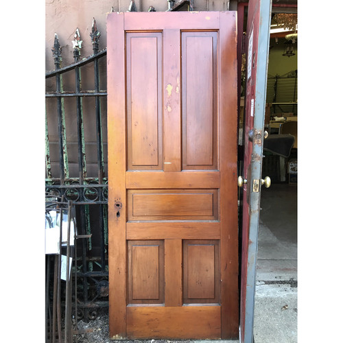 "D18094 - Antique Interior Five Traditional Panel Door 31-1/2"" x 79-1/2"""