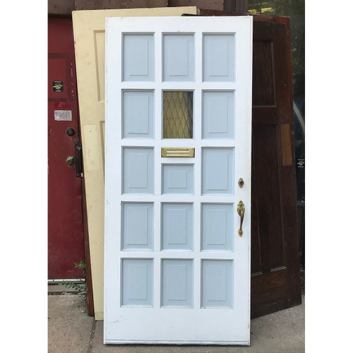 "D18115 - Vintage Revival Period Pine Exterior Multi-paneled Door 35-3/4"" x 79-1/2"""