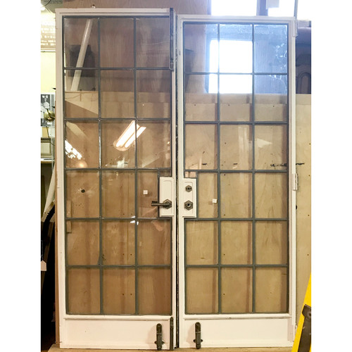 """D18117 - Pair of Antique Iron French Doors 58"""" x 82"""""""