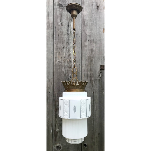 L18125 - Antique Art Deco Pendant Hanging Fixture