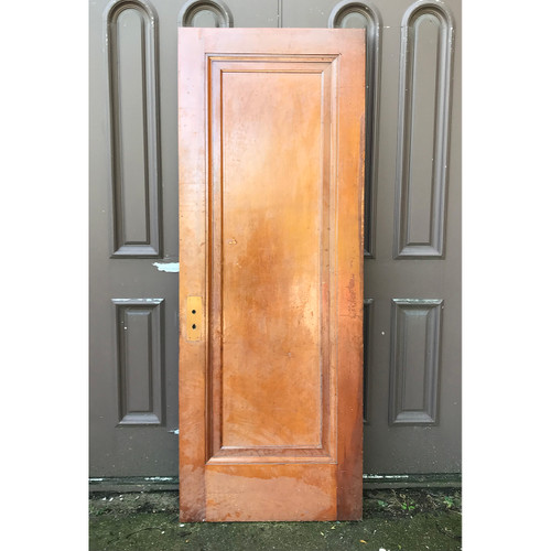 "D18160 - Antique Pine Interior Single Panel ""Miracle"" Door 30"" x 80"""