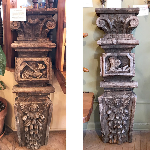 A18155 - Pair of Antique Hand Carved Corbels