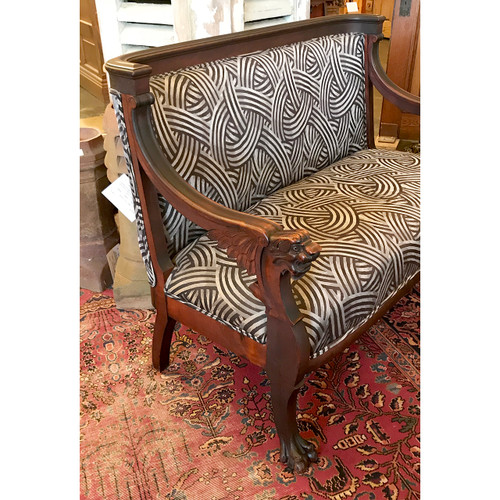 F18135 - Antique Carved Mahogany Settee