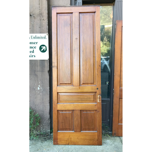 "D18172 - ANTIQUE INTERIOR TRADITIONAL Five PANEL DOOR 32-3/4"" X 93-3/4"""