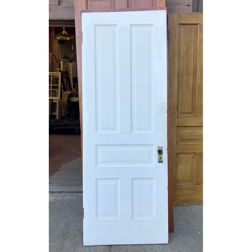 "D18175 - ANTIQUE INTERIOR TRADITIONAL Five PANEL DOOR 30"" X 82-3/4"""