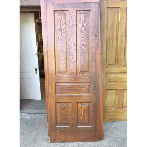 "D18174 - ANTIQUE INTERIOR TRADITIONAL Five PANEL DOOR 29-3/4"" X 80-1/2"""