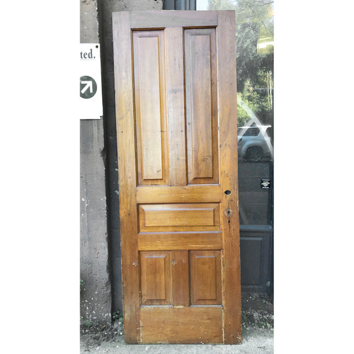 "D18177 - ANTIQUE INTERIOR TRADITIONAL Five PANEL DOOR 30"" X 83"""