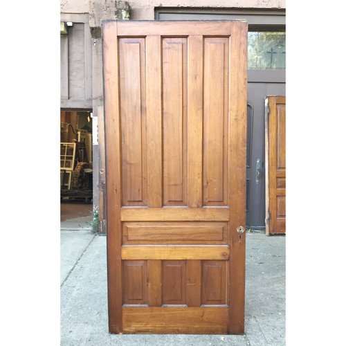 "D18167 - Antique Seven Panel Pocket Door 42"" x 94-1/2"""