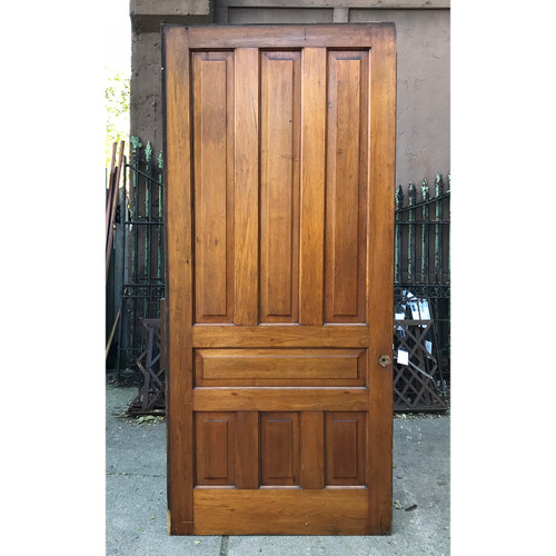 "D18166 - Antique Seven Panel Pocket Door 42"" x 94-1/2"""