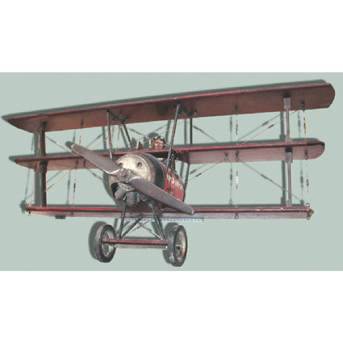 800161 - Antique Folk Art Carved WWI Triplane