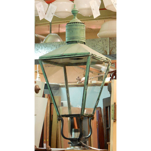 L13096 - Antique Colonial Revival  Exterior Lantern Fixture - Unrestored