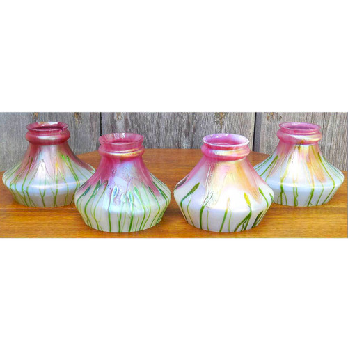 L14252 - Set of Four Loetz Art Glass Shades