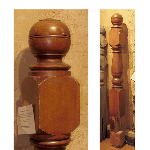 S14050 - Antique Late Victorian Birch Newel Post