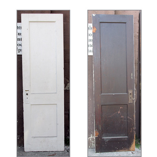 "D15021 - Single Antique Interior Two Panel Door 24"" x 80"""