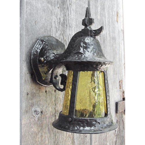 L15234 - Antique Tudor Revival Exterior Lantern Sconce