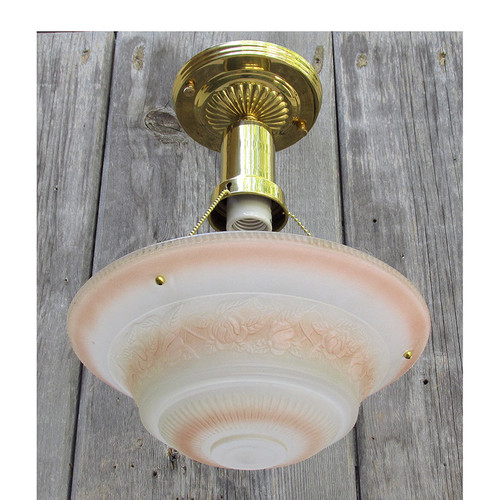 L15280 - Art Moderne Ceiling Light Fixture With Antique Bowl Shade