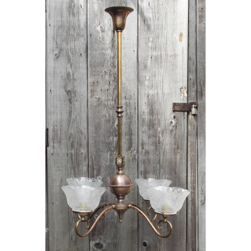 L16095 - Antique Colonial Revival Four Arm Hanging Fixture