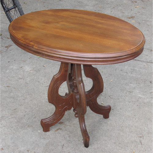 F16118 - Antique Renaissance Revival Walnut Parlor Table