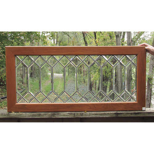 G16056 - Antique Arts and Crafts Beveled Glass Window