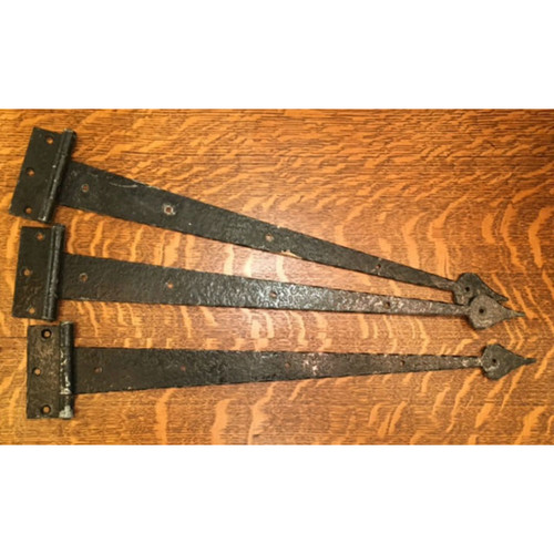 H16011A - Set of Three Antique Stanley Tudor Style Strap Hinges