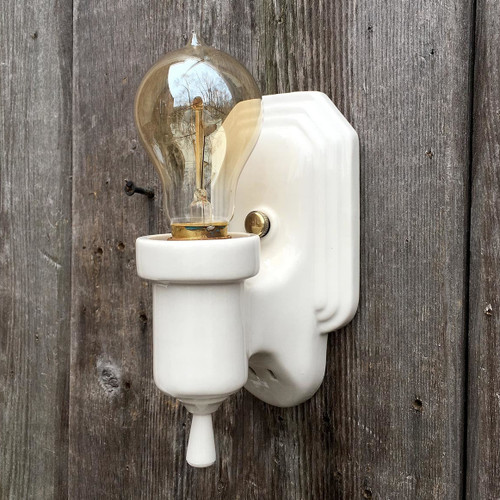 L17004 - Antique Art Deco Bathroom Sconce