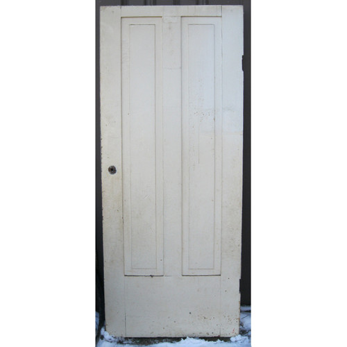 "D17030 - Antique Poplar Two Vertical Panel Interior Door 32"" x 77-3/4"""