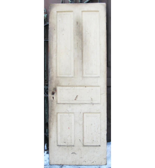 "D17026 - Antique Pine Five Panel Interior Door 28-1/2"" x 77-1/2"""