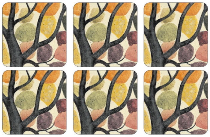 Dancing Branches Coasters S/6 4x4