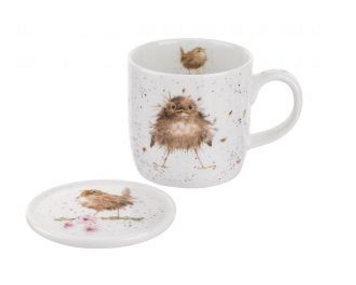 Wrendale Designs Flying the Nest Mug & Coaster Set